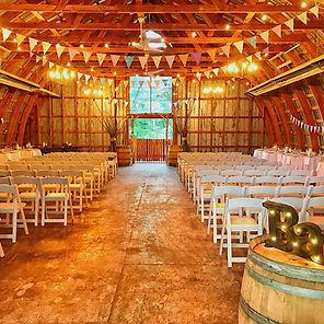 Barn Ceremony Set Up at Hillside Lodge