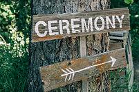 Ceremony Sign at Hillside Lodge