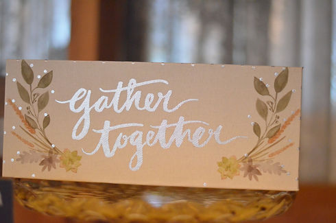 Gather Together Wedding Sign at Hillside Lodge