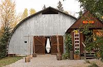 Front of Wedding Venue at Hillside Lodge