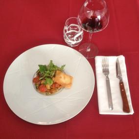 Tartelette tomates confites panneaute de