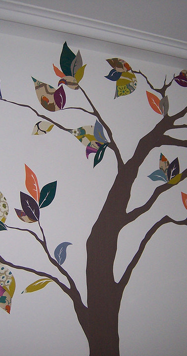 Fresque Arbre d'automne en papier peints