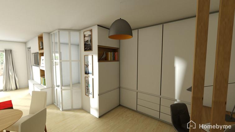 Chez M et Mme L. Courbevoie - Entrée 3D