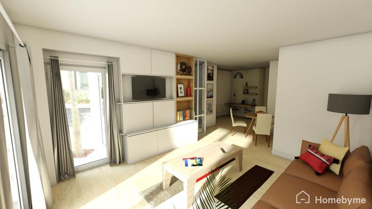 Chez M et Mme L. Courbevoie - Salon 3D