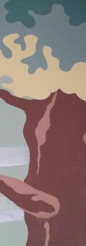 Fresque Murale La Forêt- détail de l'arb