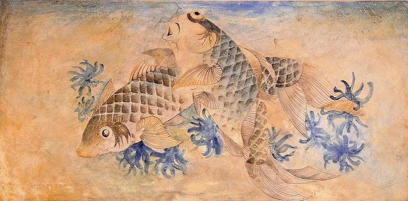 Fresque Murale Carpe koï