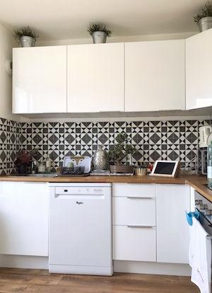 Installation lave vaisselle, création point d'eau et vidange, évier, siphon, carrelage