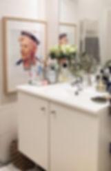 Installation lavabo et robinetterie, création point d'eau et vidange, siphon, carrelage