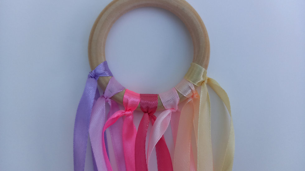 Montessori Sensory Ribbon Wand - Pastel pinks