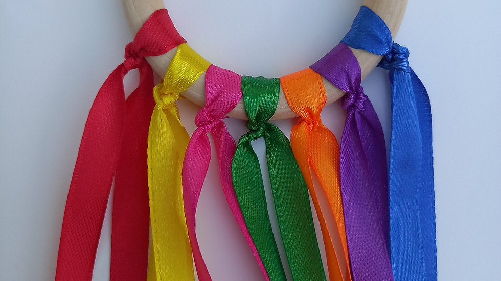 Montessori Sensory Ribbon Wand - Rainbow Colours