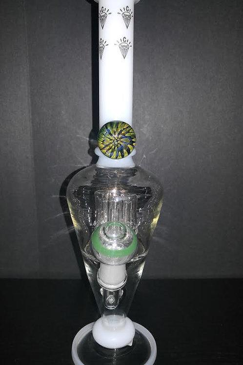 Cream Glass Diamonds Mini Waterpipe