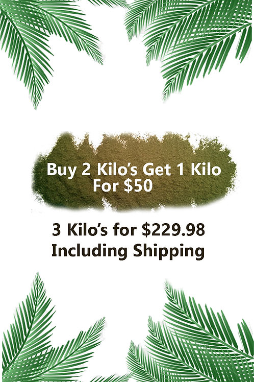 Buy 2 kilo's get one for $50