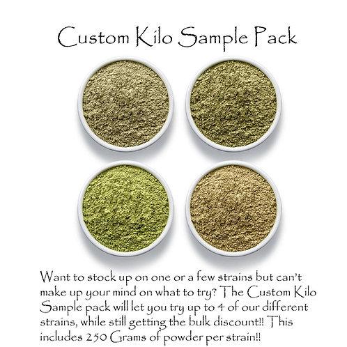 Custom Kilo Sample pack