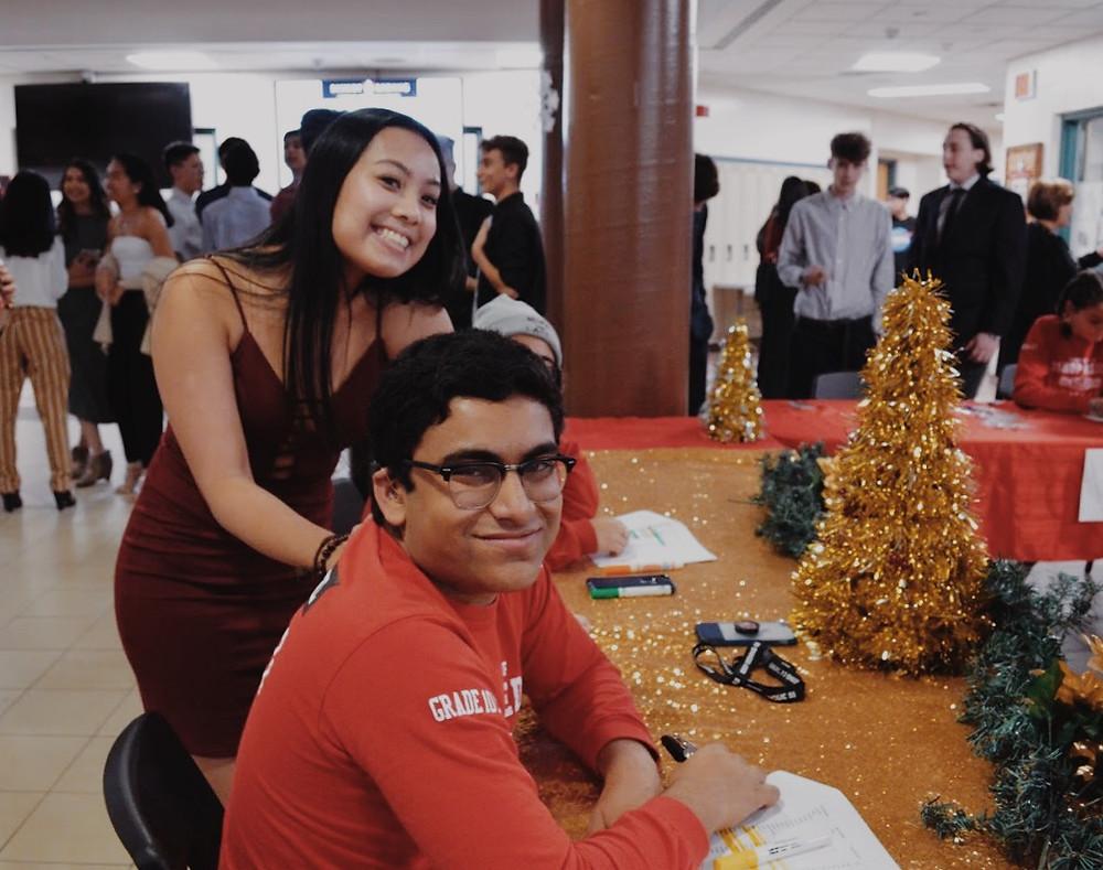 Student Council Co-President Ashley Pablo pictured with Grade 10 Rep Faiq Farooq