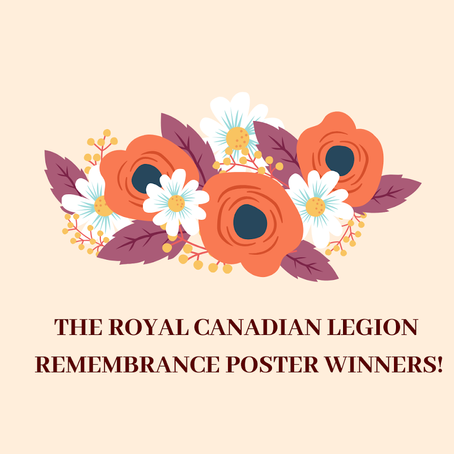 Remembrance Day Poster Contest Winners