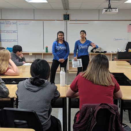 Grade 9 Reflection on YOUnity Visits