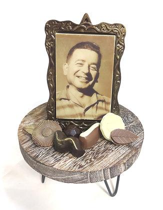 מארז תמונה ומסגרת נוסטלגית אכילות משוקולד