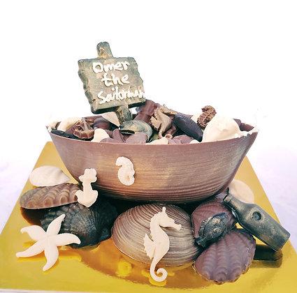 מארז סירת חובלי ים משוקולד