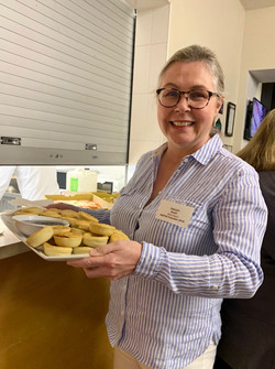 Tracey Seath with pies!