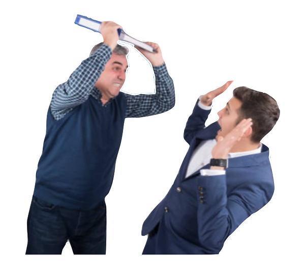 Man hitting man with book.png