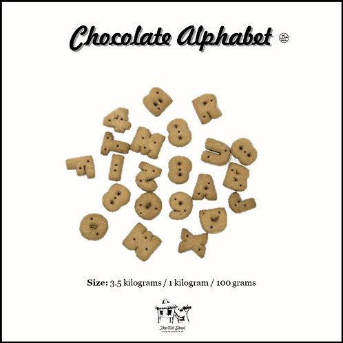 Chocolate Alphabet Biscuit