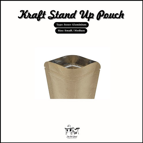Kraft Stand Up Pouch | Packaging | The Old Skool SG