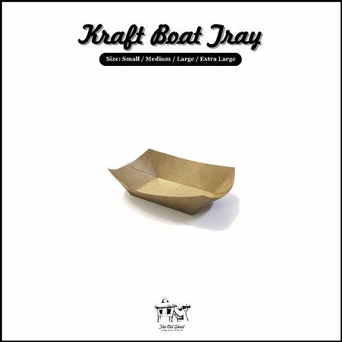 Kraft Boat Tray | Packaging | The Old Skool SG