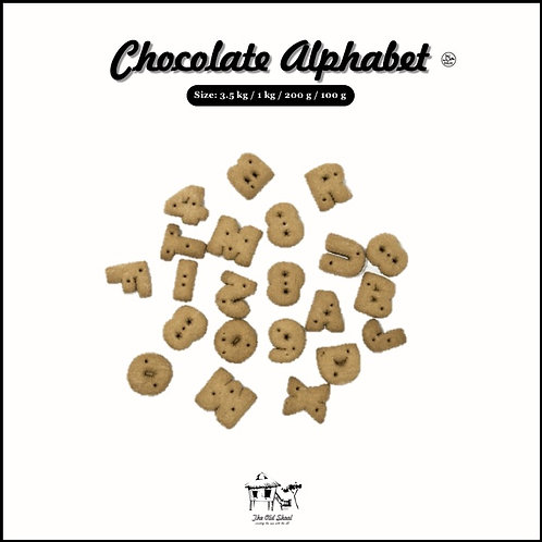 Chocolate Alphabet | Biscuit | The Old Skool SG