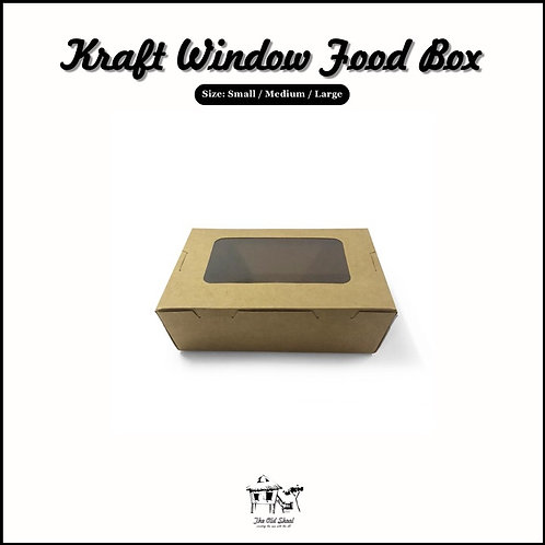 Kraft Window Food Box | Packaging | The Old Skool SG