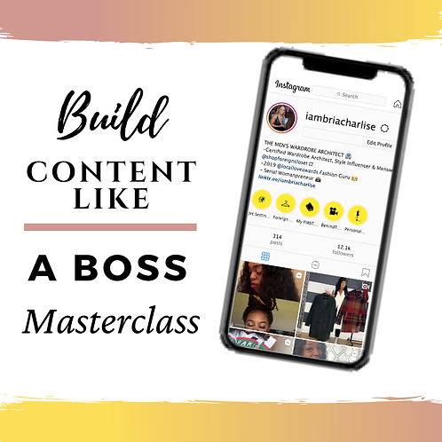 Build Content Like A Boss