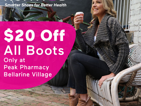 $20 DISCOUNTS ON ALL HOMYPED BOOTS!