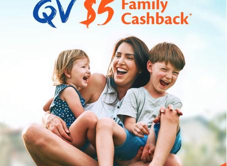 $5 CASH BACK PROMOTION BY QV
