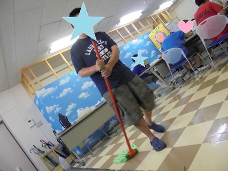 清掃実習の練習!