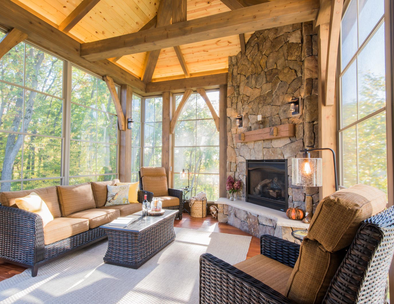 timber frame porch in maple grove mn