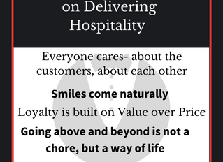 "Are you getting ""your Hospitality right?"""