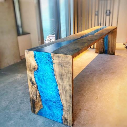 13' Epoxy river table
