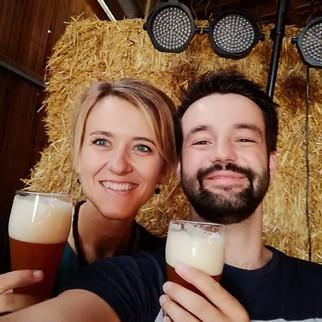 ein Bierchen und den Moment genießen