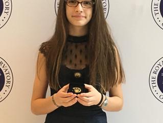 CONGRATULATIONS for achieving the RCM Gold Medal, Viviane!