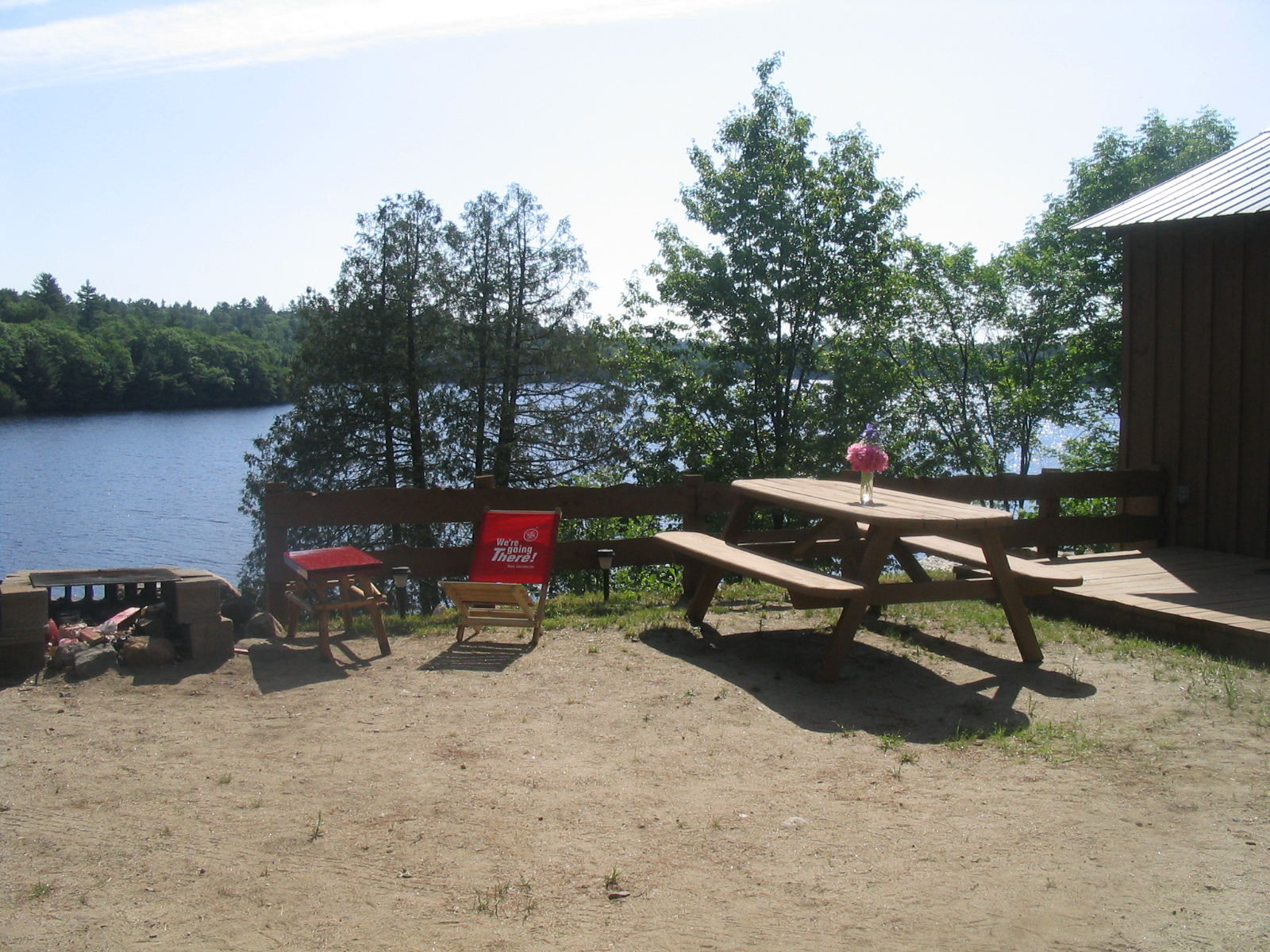 Cabin 1-2 fire pit area