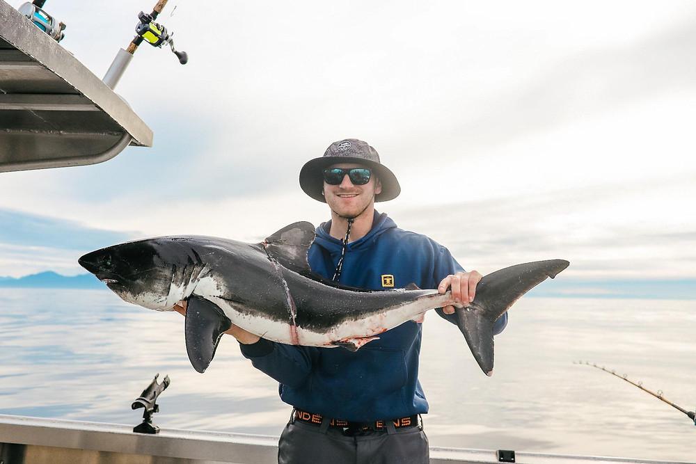 salmon shark fishing