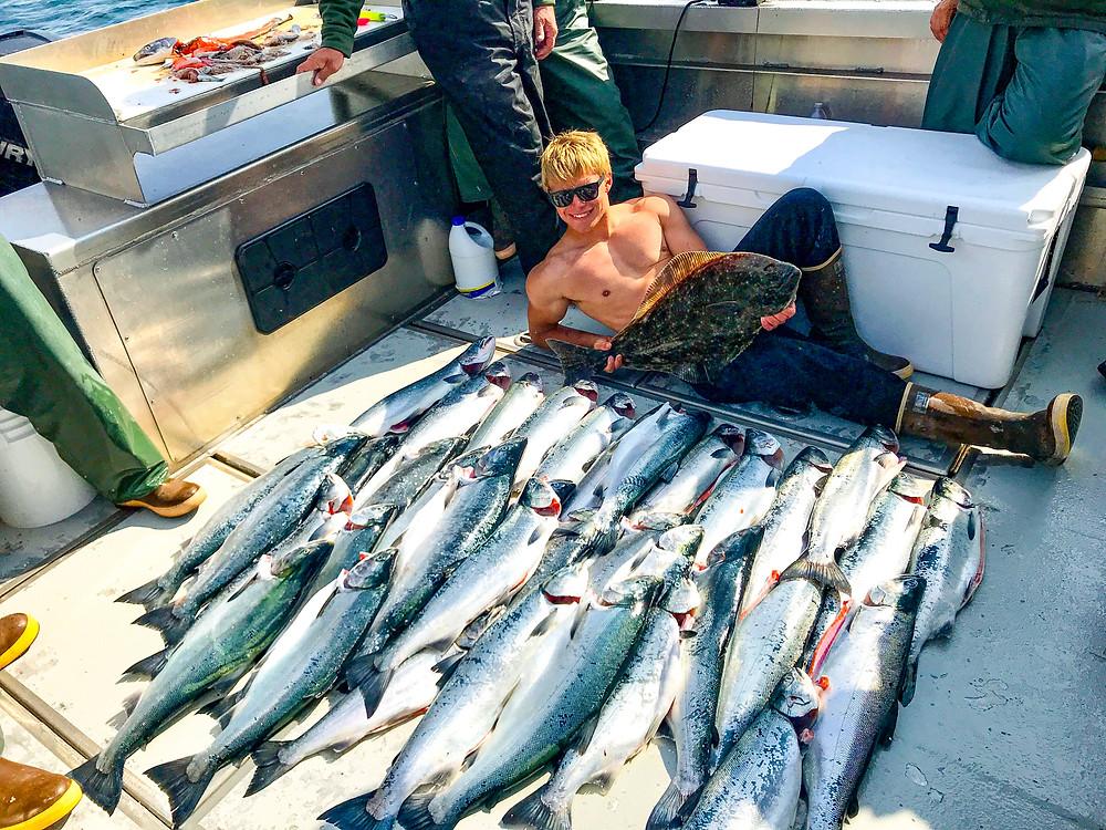 Silver salmon fishing in alaska