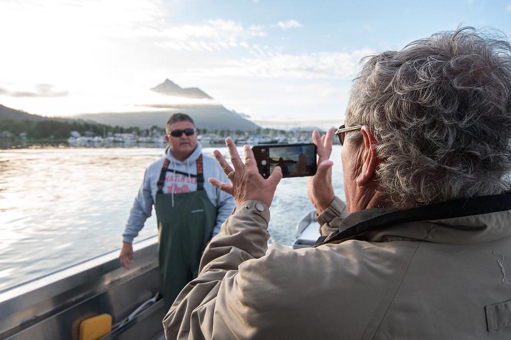 Guests enjoying the alaska fishing experience