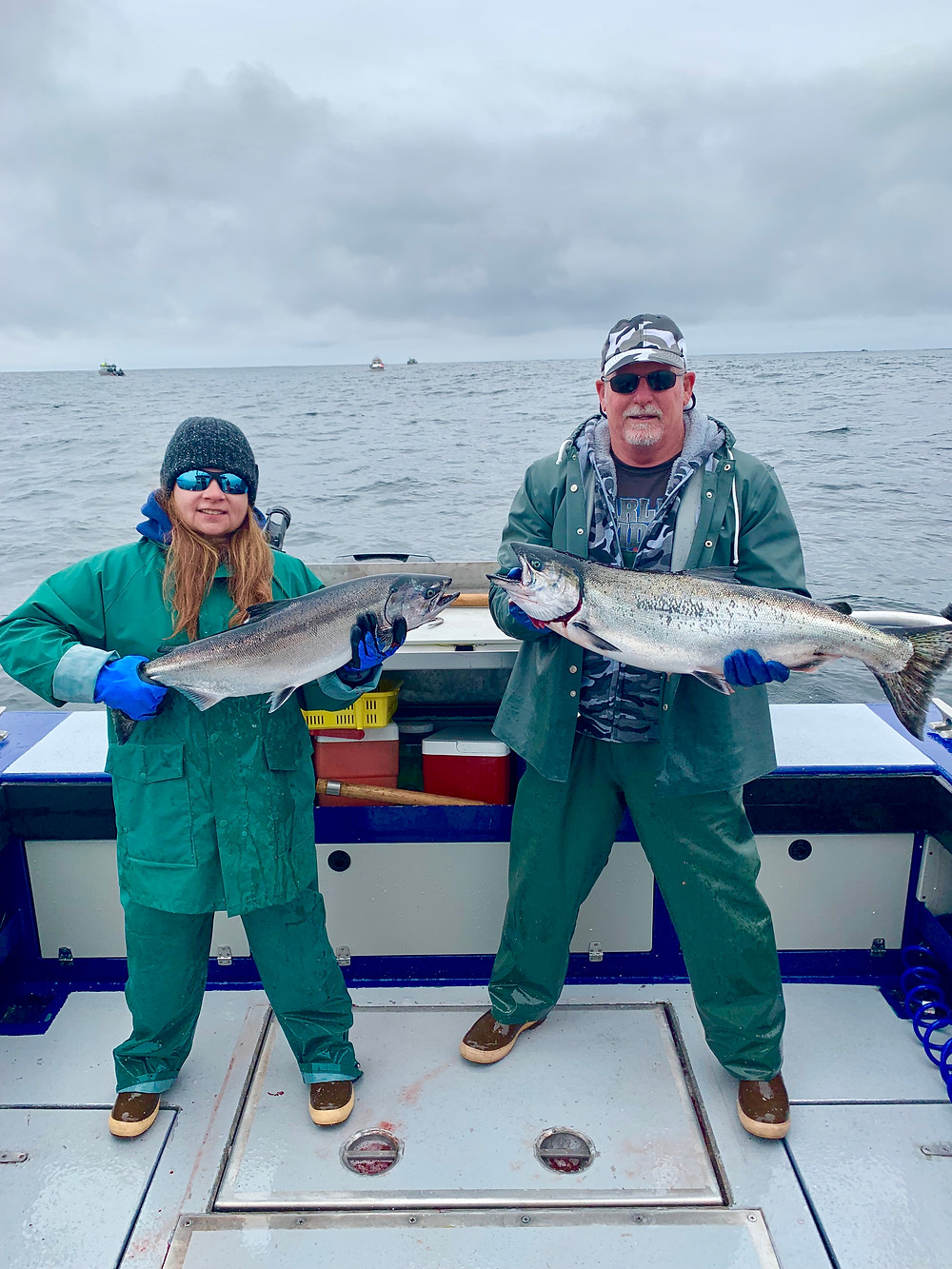 King salmon fishing in Sitka, Alaska