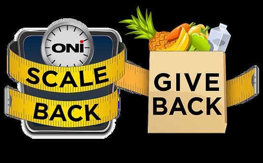 Scale back Give Back  logo