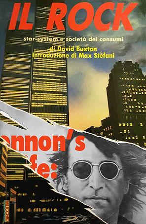 """Cover libro """"Il Rock"""" Star-sistem e società dei consumi, di David Buxton. edito da Mucchio Selvaggio - introduzione i Max Stefani - illustrazione di Antonino Bumbica"""