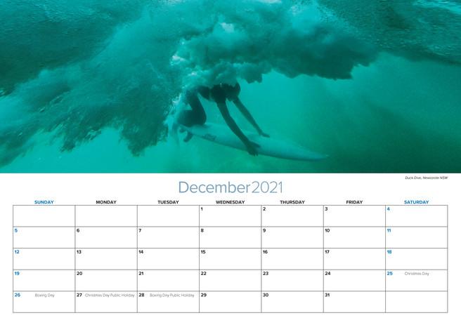2021 A3 Calendar Striking Newcastle Dec