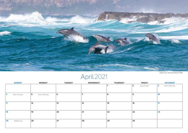 2021 A3 Calendar Striking Newcastle April