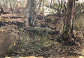Sandstone bush (en plein air)