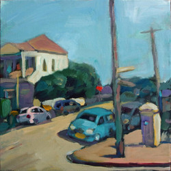 Cliff Street, Shepherd's Hill, acrylic on canvas, 30 x 30cm, 2015