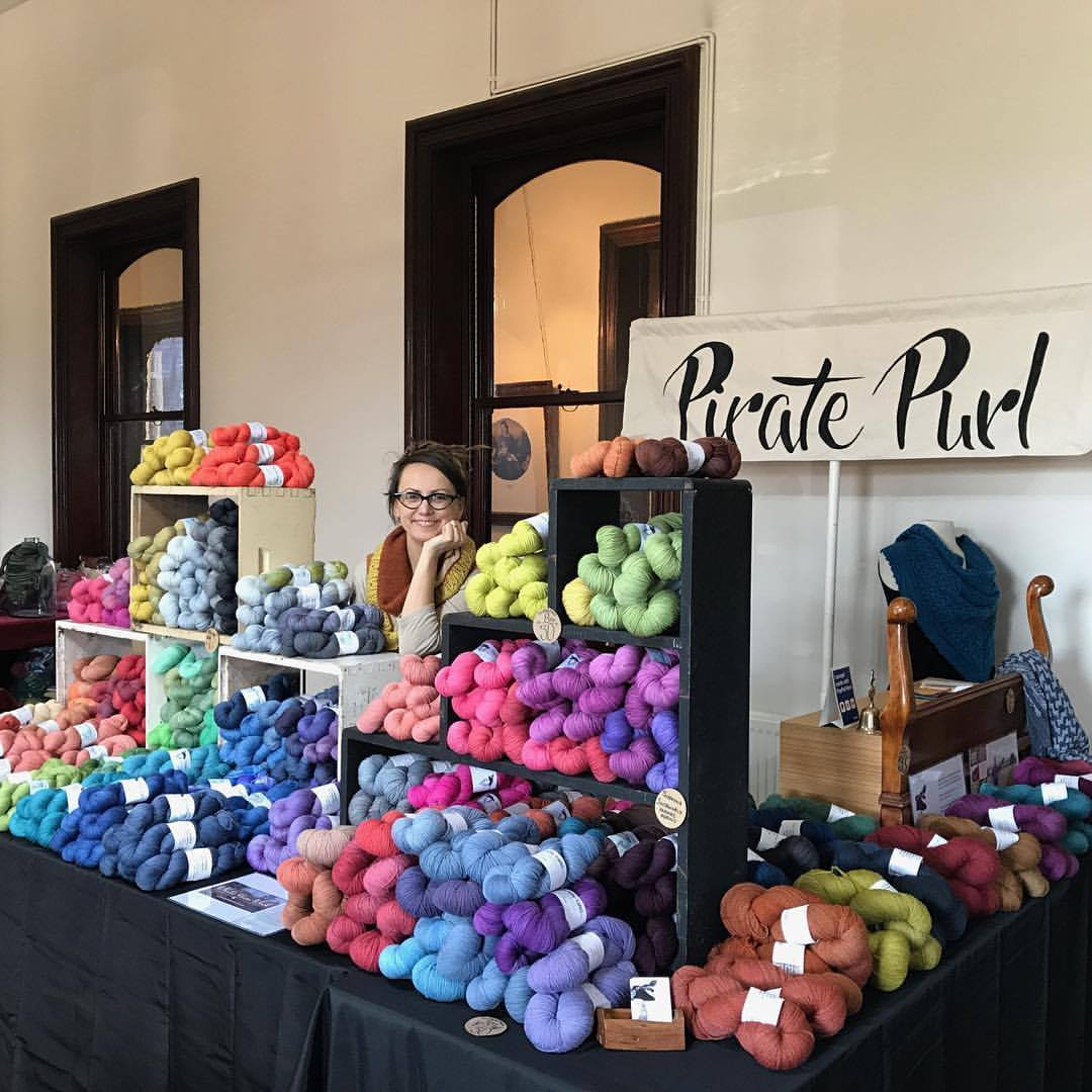 Katrina Kellett with wool